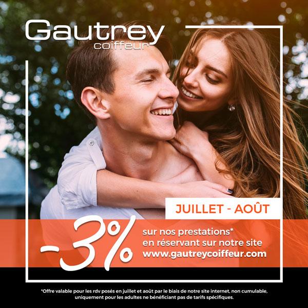 3% de réductions sur nos prestations en réservant en ligne